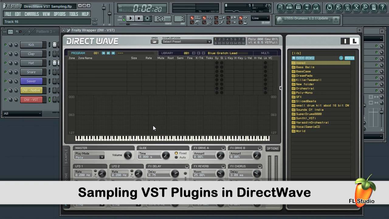 FL Studio Guru - Sampling VST Plugins With DirectWave