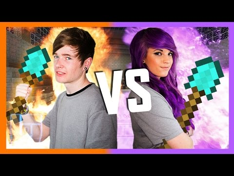 DanTDM v AshleyMarieeGaming - Round 2 - Minecraft: 1v1 | Legends of Gaming