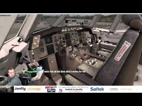 Twitch Livery Debut Flight Factor Boeing 767 X-Plane Departing KSLC