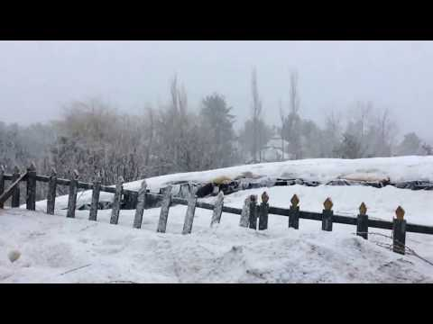 Srinagar snow fall March 2016