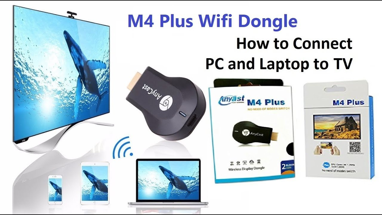 Share Laptop screen to TV using M4 Plus (Wireless Connection in 2 Minutes)