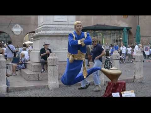 lamp genie Aladdin appear in street  .