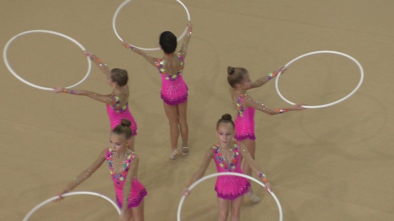 художественная гимнастика групповые упражнения с обручем - Челябинск