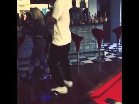 Chris Brown dancing in a bar on a SegBoard - Buy now for 3999 DKK / 4999 SEK / 600 USD
