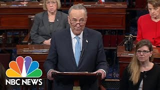 Chuck Schumer Blames Donald Trump: 'Great Deal-Making President Sat On The Sidelines' | NBC News