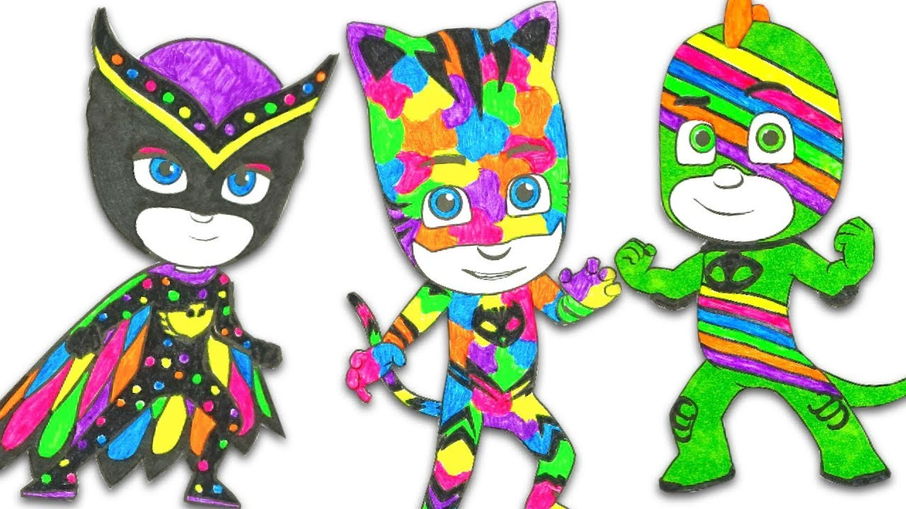 Раскраска для детей, делаем необычные костюмы - YouTube