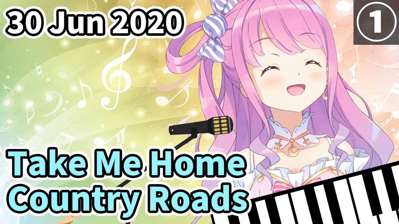 "【Hololive/Eng sub】Luna's heart-warming ""Take Me Home, Country Road""【Himemori Luna】"