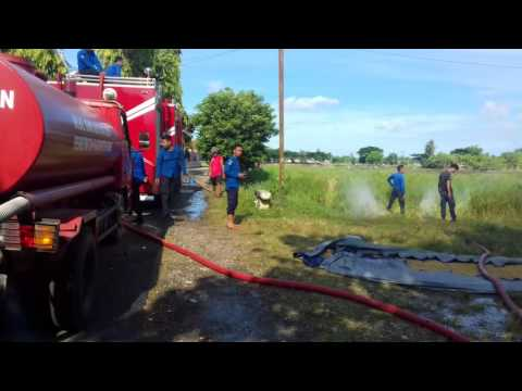 Kebakaran Mess TNI di Belakang RS Yasin