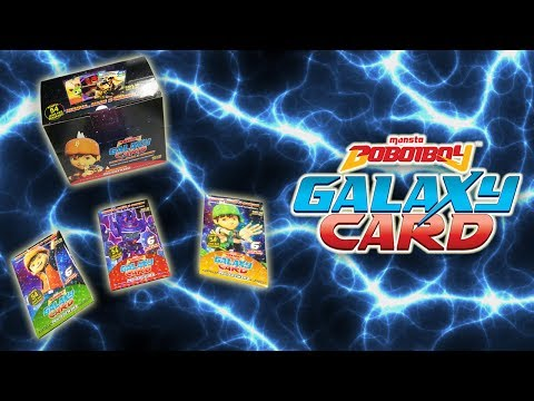 AWESOME!!!! OFFICIAL BOBOIBOY GALAXY CARD FROM MONSTA!