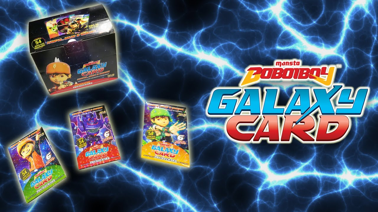 Awesome Official Boboiboy Galaxy Card From Monsta Youtube