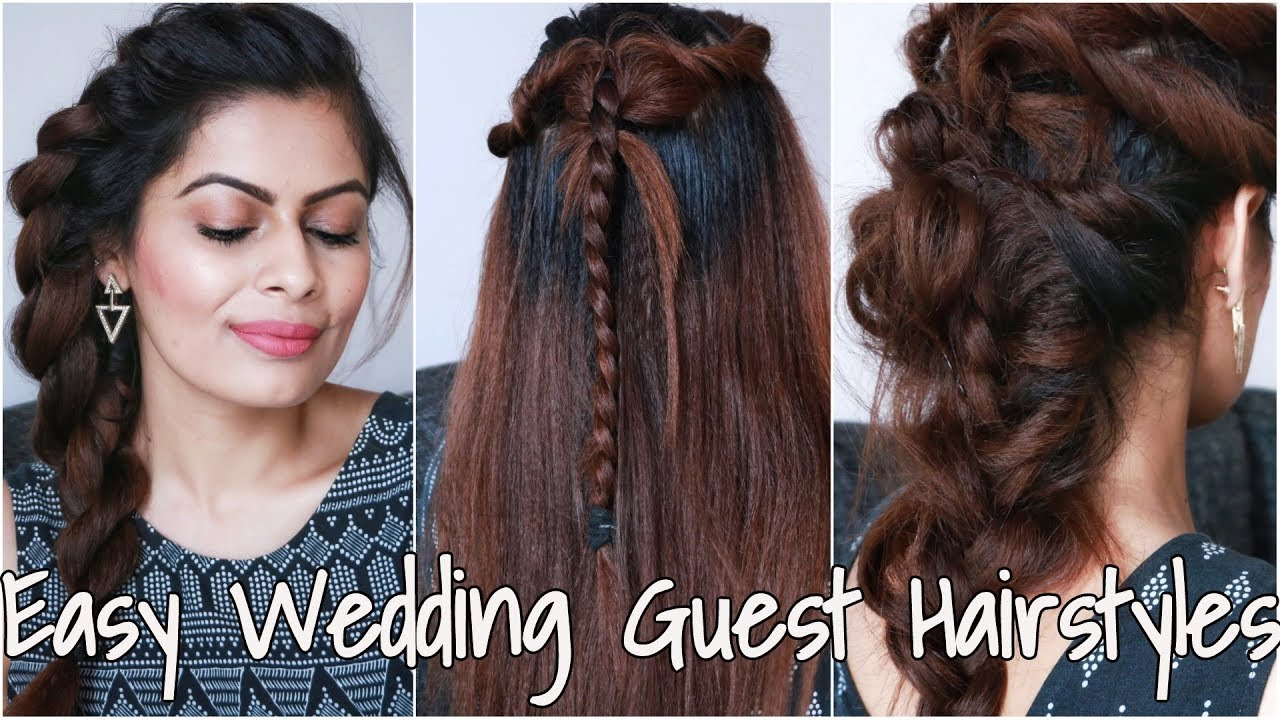 easy beautiful indian wedding guest hairstyles | शादियों में सुन्दर बाल कैसे बनाएं | roman braids