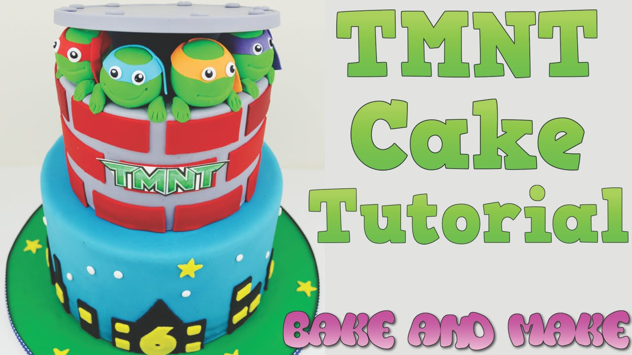 How To Make A Tmnt Birthday Cake Tutorial Bake And Make With Angela