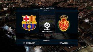 Barcelona Vs Rcd Mallorca   Camp Nou   2019 20 La Liga   Pes 2020