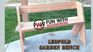 Project - How to build a quick and easy garden bench in under 2 hours for less than $20.00