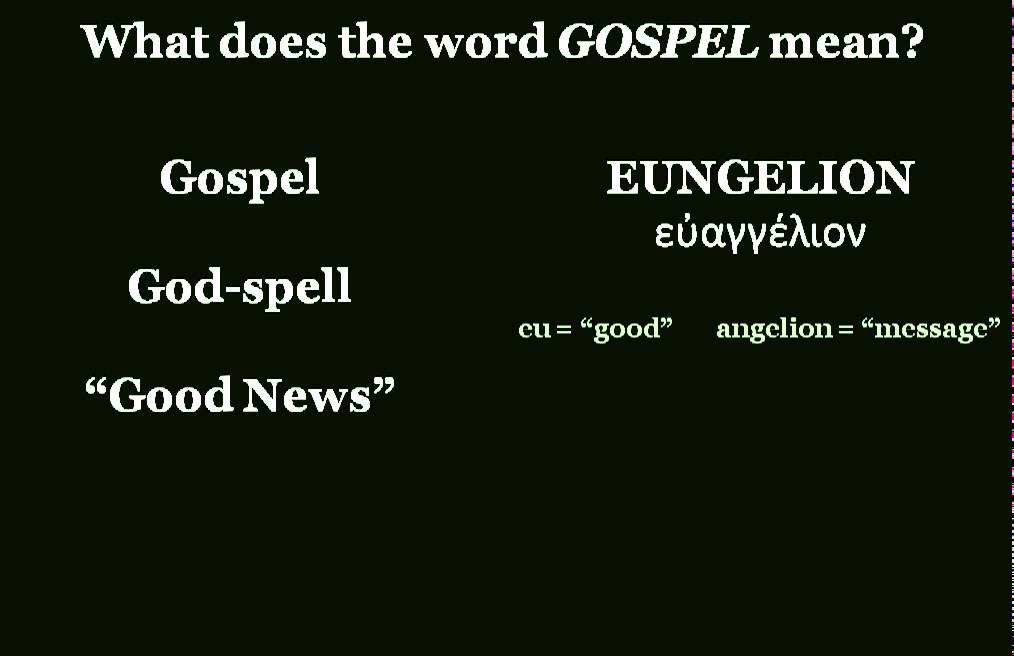 What is the Meaning of the Word Gospel?
