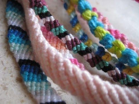 Bracciali di cotone , Nodo semplice