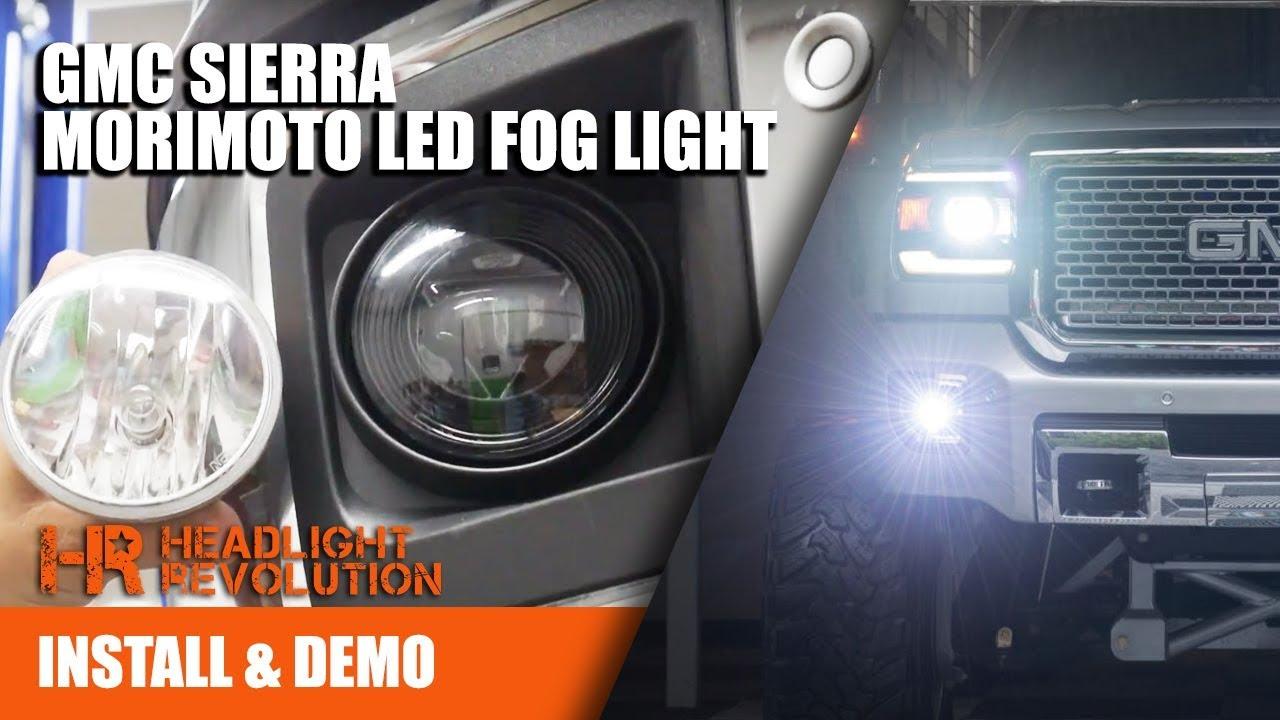 morimoto led fog light install for gmc sierra headlight revolution [ 1280 x 720 Pixel ]