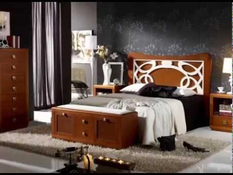 Habitaciones de matrimonio con camas armarios mesitas y - Habitaciones de matrimonio pequenas ...