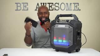 Sing Like No One's Listenin'... Blackweb Bluetooth Party Speaker