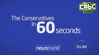 Gambar cover The Conservative Party in 60 seconds - CBBC Newsround