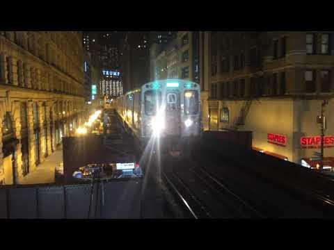 CTA 5000 Series Green Line Train Enters Washington/Wabash (Ashland/63)