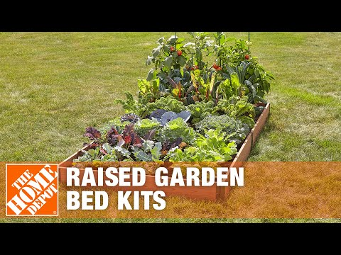 Raised Garden Bed Kits The Home Depot Youtube