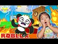 Ryan Escapes Crazy House in ROBLOX with Combo Panda! Let's Play