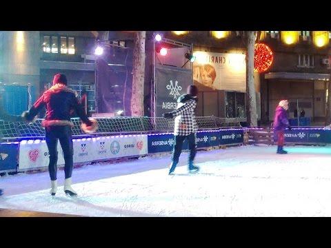 Ice Skating in Belgrade (Nikola Pasic Square)