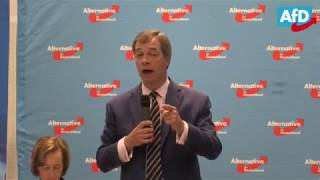 Nigel Farage Q and A in Germany Brexit and German Election