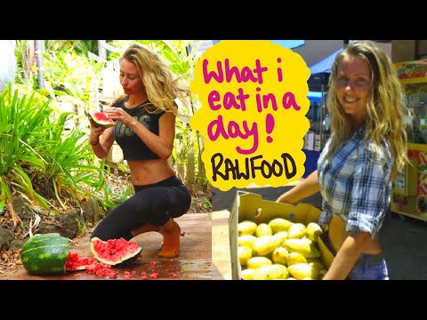 What I eat in a day on a raw food vegan diet (frugivore diet) #shorts