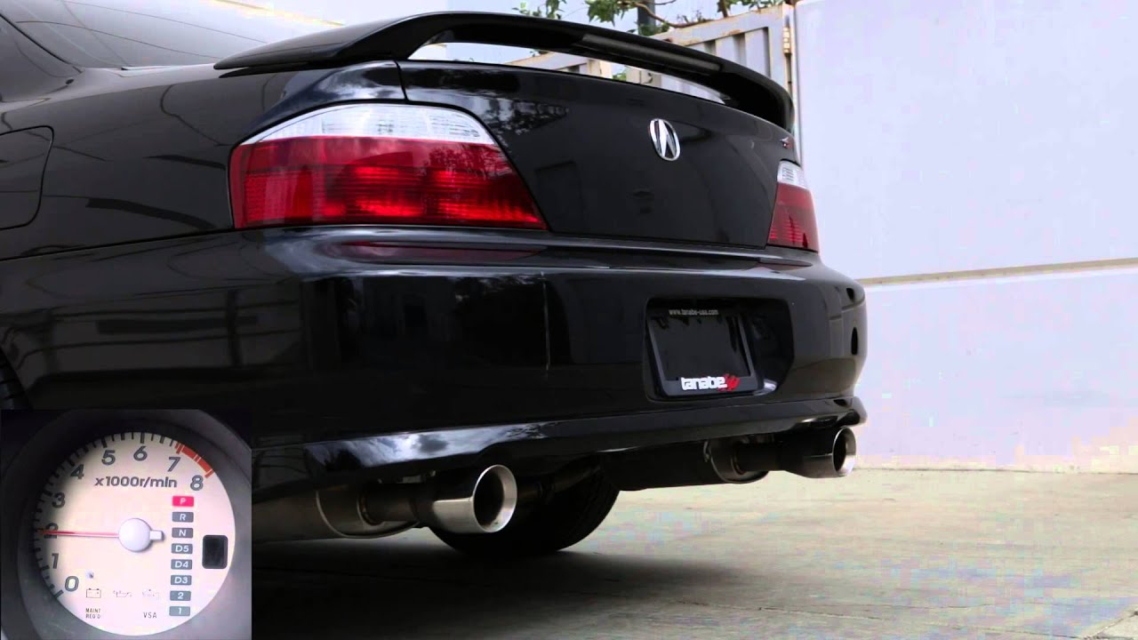 tanabe touring medalion exhaust for 2001 2003 acura tl type s youtube. Black Bedroom Furniture Sets. Home Design Ideas
