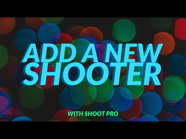 Add a new shooter | 3S Shooting Sports Software