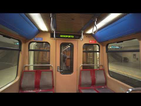 Portugal, Metro ride from Lisbon Airport to Alameda