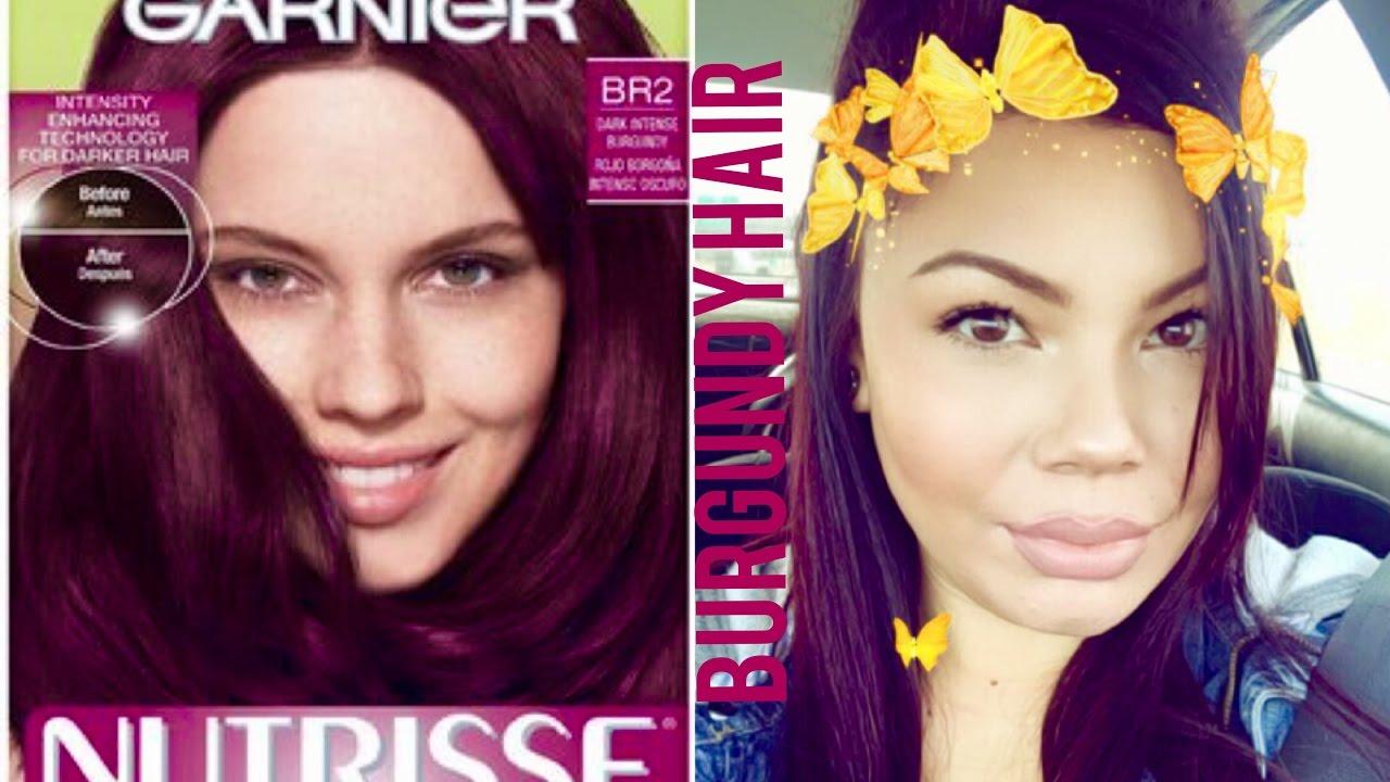 Garnier Nutrisse Ultra Color Hair Dye Review Dark Intense Burgundy