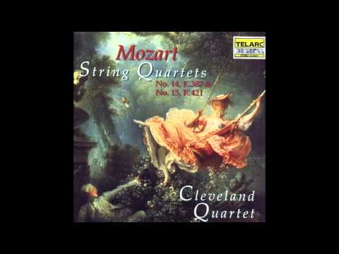 Cleveland Quartet - Mozart String Quartet #15 in D Minor, K 421