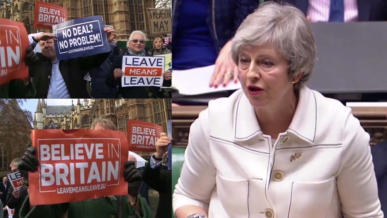 Brexit: Theresa May loses vote, demonstrators take to streets
