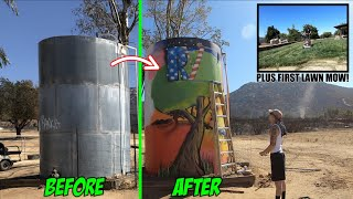 TRANSFORMING THIS OLD WATER TANK INTO A WORK OF ART!