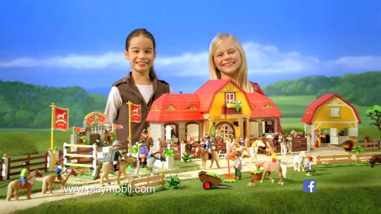 playmobil ranch chevaux youtube. Black Bedroom Furniture Sets. Home Design Ideas