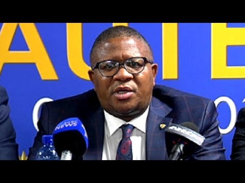 Police Minister Mbalula media briefing on visit to O.R. Tambo Intl Airport, 10 July 2017