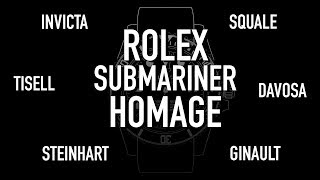 What is the Best Rolex Submariner Homage? | Invicta, Tisell, Steinhart, Squale, Davosa, Ginault