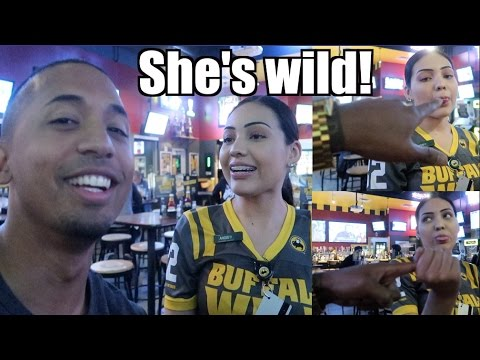 This Buffalo Wild Wings employee is too WILD & FLIRTACIOUS! | Mansion Party| SnewJ
