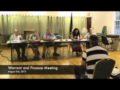 Warrant and Finance - 08-03-2015