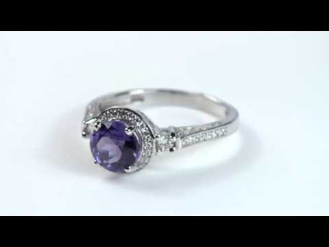 Кольцо серебряное с александритом ПДК56АЛ