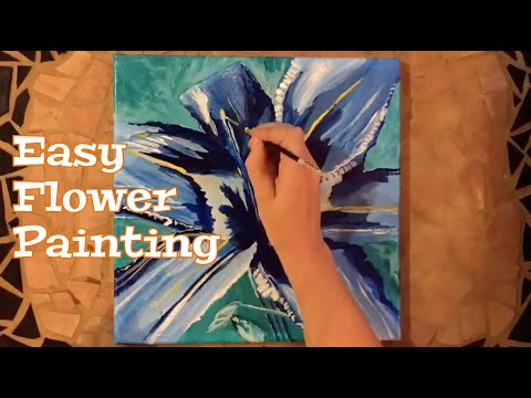 Flower Painting / Acrylic Painting (Timelapse)