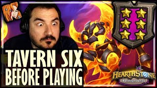 TAVERN 6 BEFORE PLAYING CARDS?! - Hearthstone Battlegrounds