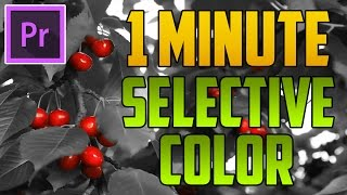 Premiere Pro CC : How to Create Selective Color / Sin City Effect