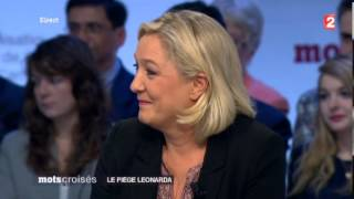 VIDEO - Affaire Léonarda - Marine Le Pen FN Mots croisés 211013