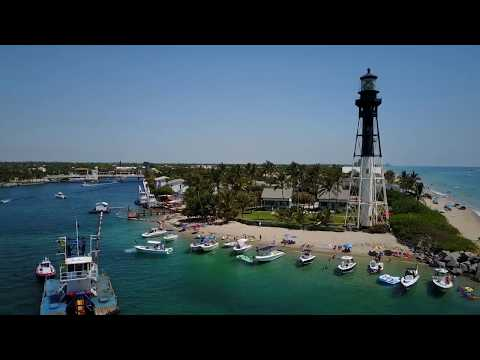 Drone footage of Lighthouse Point, Florida