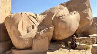 Amazing engineering at the Ramessuem, Luxor