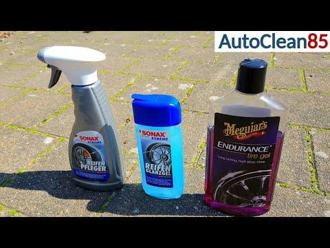 GLANZ oder MATT? TOP 3 Reifenpflege/Sonax Reifenglanzgel Meguiars Tire Gel Sonax Reifen Matteffect